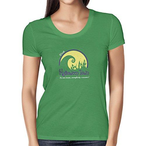 een Town - Damen T-Shirt, Größe M, grün (Halloweentown High School)