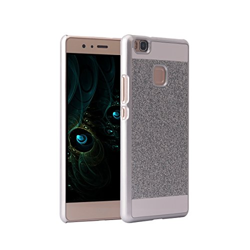 Huawei P9 Lite Cover PC, Asnlove custodia in policarbonato rigida dura hard case transparente morbile crystal caso bling brillanti protezione back shell cassa, Argento