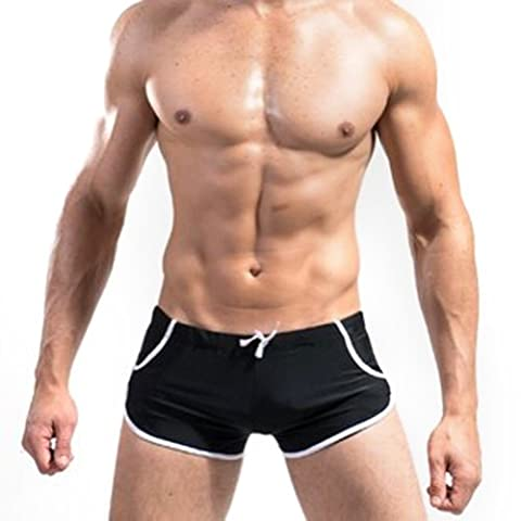 OFTEN (TM) Mens Swimming Trunks Briefs Underwear Swimwear Pants Shorts Slim Wear Front Tie with Pocket