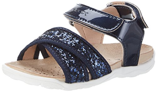 Geox Mädchen JR Sandal Aloha A Offene Keilabsatz, Blau (NAVYC4002), 35 EU