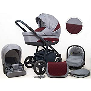 Travel System Stroller Pram Pushchair 2in1 3in1 Set Isofix Marley by SaintBaby Plum 2in1 Without Baby seat   4