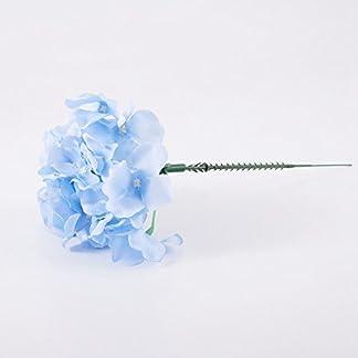 TOOGOO Flores de Seda Decoracion de la Boda Flores Artificiales de Estilo de Primavera vistosa Hortensia Grande Flores de la Decoracion de Boda de Blanco lechoso