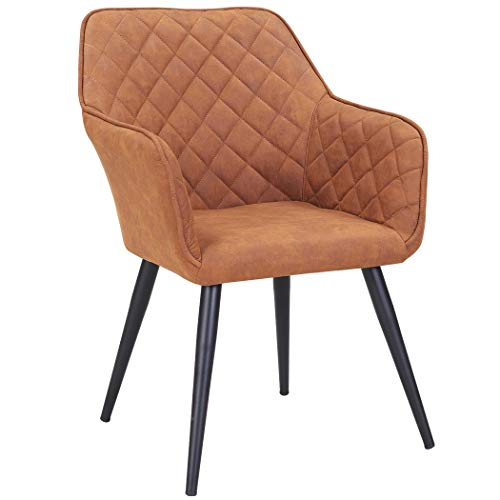 Stuhl aus Stoff Lederoptik Kupfer-Braun - 79,90 €