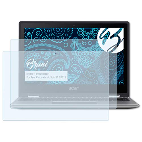 Bruni Schutzfolie für Acer Chromebook Spin 11 CP311 Folie, glasklare Displayschutzfolie (2X)