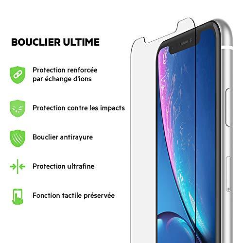 Belkin Protection d'écran ScreenForce InvisiGlassUltra pour iPhoneXR - Protecteur d'écran pour iPhoneXR