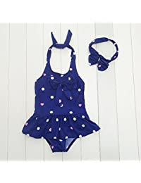 80677b974 Sunny Niñas Trajes de baño Niños Una Pieza Ropa de Playa Vacaciones Nadando  Disfraz (Color   Azul