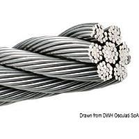 Cavo inox 133 fili 8 mm English: Wire rope AISI 316 133-wire 8 mm