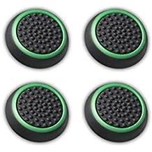 Canamite, gommini per pollici, gommini copri levette per joystick, per PS4,PS3,Xbox One, Xbox One S e Xbox 360, confezione da 4pezzi, green