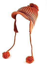 NYfashion101 modische warm Acryl Strickmütze mit Schirm und Ohrenklappen