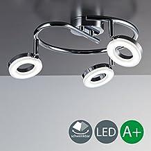 foco led para techo luz de techo en forma espiral spot gu de vatios de potencia y lmenes incluidos orientable y ajustable de color cromo