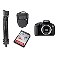 Canon EOS 800D EF-S 18-55mm IS STM DSLR with Tripod, Carry case, Sandisk 16GB Ultra SD Card Bundle Kit, Black