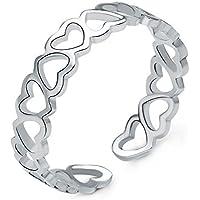 Hosaire Anillo de Plata de Amor Estilo de la Mujer de Apertura Metal-Ajustable Regalo