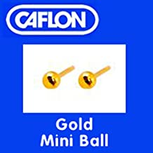Orecchini a forma di borchia, colore e stile da scegliere, Gold, Mini Ball