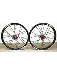 ZNND 20 Pulgadas Ruedas De Bicicleta, Double Wall V-Brake Ultra-Ligeras 24