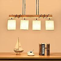 WWOWW @Beleuchtung Dekoration Gaststätte Leuchter E27 Lampe Handgemachtes  Hölzernes Hängendes Licht LED Hängende