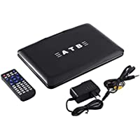 DVD Player, 9.8 Inch Portable Mobile Multi Region Multimedia DVD Player Hi-speed USB, Support TV VCD CD MP3/4 FM Game Home
