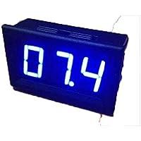 10pcs 2 fili DC2.5-30V LED display digitale di tensione del tester di pannello blu