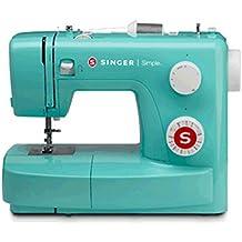 SINGER Simple 3223G - Máquina de coser (Turquesa, Máquina de coser semiautomática, Costura