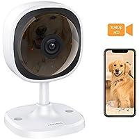 Cámara de Vigilancia,Lensoul 1080P HD Cámara IP WiFi inalámbrica para Mascotas Monitor de bebés con vigilancia de Audio bidireccional Detección de Movimiento Visión Nocturna