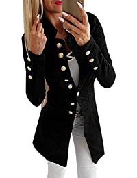 9a70df9ff0f7 Katesid Damen Blazer Damenjacke Admiral Uniform Jacke Vinatge Military  Blogger Slim Fit