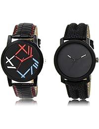 The Shopoholic Black Combo New Collection Black Dial Analog Watch For Boys Analog Watch For Boys Stylish