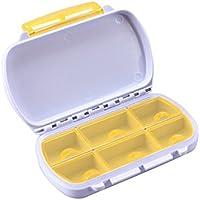 Wasserdichter Pill-Kasten Recoproqfje mit 6 Schlitz-Medizin-Behälter für Reise gelb preisvergleich bei billige-tabletten.eu