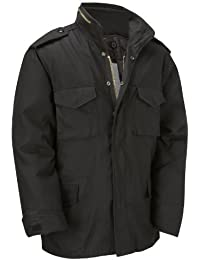 M65 Military Field Jacket With Removable Quilted Inner Liner - Black