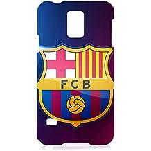 Nuevo diseño famoso FC del Logo del FC Barcelona funda para Samsung Galaxy S5 3D plástico funda, compatible con Blackberry Z10/Samsung Galaxy S5, color multicolor