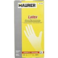 Maurer 15030011 Guante Desechable Latex Talla 8 L Caja 100 Unidades