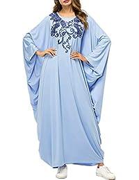 Vestido de Mujer Elegante Túnica Abaya - Manga Larga Casual Ramadán Árabe Ropa