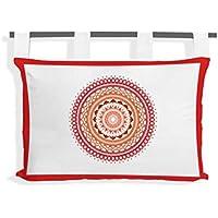 Preisvergleich für SOLEIL D'OCRE Tete de lit Mandala en coton - 45x70 cm - Orange corail