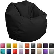 Puff Pelota 60cm diámetro (Negro)