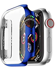 Cooljun for Apple Watch Case 44 mm Screen Protector, Ultra Thin PC Plating Cases Protection Bumper Cover Protective Case All-Round Protection Slim Case for iWatch Apple Watch Series 4 44 mm