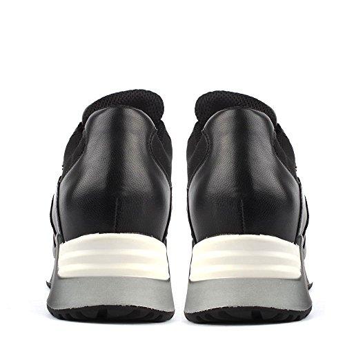 Ash Lenny Bis Sneaker aus Leder, Damen Schwarz/Stone