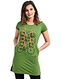 Plush Womens Cotton Regular fit Printed Long Tshirt/Tshirts (PT-001)