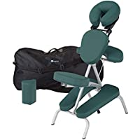 EARTHLITE Vortex Kit portable chaise de massage - Portable, compact, solide et léger (7 kg) incl. étui de rangement portable, coussin et sangle pour le sternum , Sarcelle
