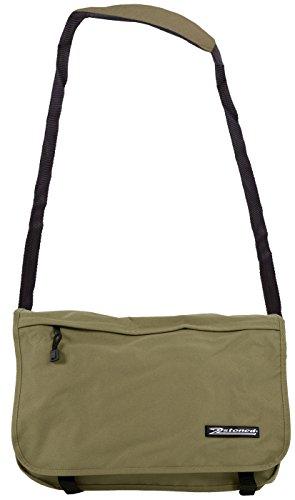 """Original 2stoned Vintage Messenger Bag Umhängetasche mit Sticklogo """"Classic Logo"""", Schwarz Beige"""