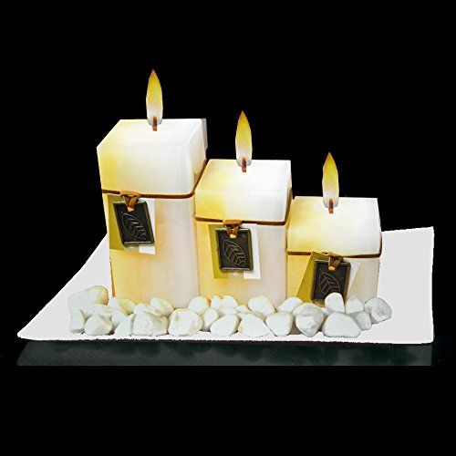 NEW-GIFT-SET-WITH-3-SCENTED-AROMATIC-MOOD-WAX-CANDLES-GLASS-PLATE-STONES-CANDLE