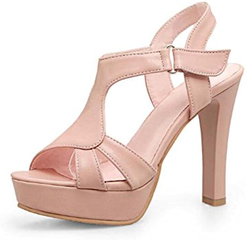 Zapatos de mujer primavera y verano nuevos zapatos de tacón super sandalias impermeables gruesas con zapatos de...