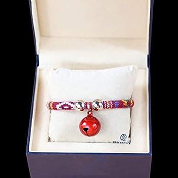 AMDXD Laisses Harnais Chien Fonc¨¦ Rouge-Style 1 Alliage Harnais Laisses Set pour Chien Colliers Cloche