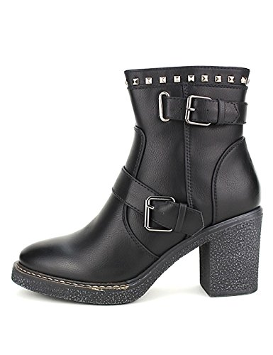 Chaussures Cendriyon Noir Femme Bottine Noire KIALIN UqWrRfq