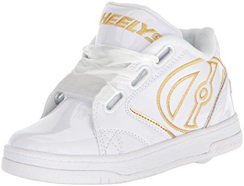 Heelys Mädchen Propel 2.0 Sneaker, Weiß White/Gold/Satin, 33 EU
