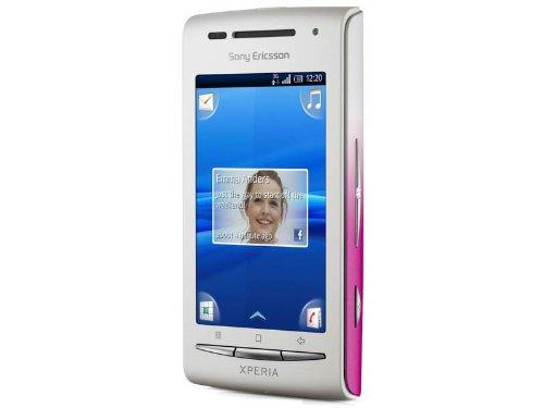 Sony Ericsson Xperia X8 Smartphone (7,6 cm (3 Zoll) Touchscreen, 3.2 MP Kamera, Android 2.1 OS, aGPS, WiFi, 3.5mm Klinkenstecker) weiß/pink, inkl. Zusatzcover in weiß Sony Ericsson Pink