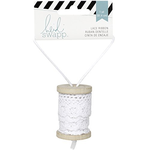 Heidi Swapp Lace Ribbon Spool, White by Heidi Swapp (Lace Spool Ribbon)