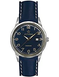 University Sports Press EX-SV-NEV-40-CL-NA - Reloj de cuarzo unisex, correa de cuero color azul
