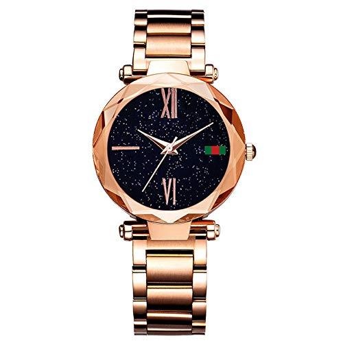 QWRjj Reloj de Pulsera Relojes de diseño para Mujer Reloj de Oro Rosa para Mujer...