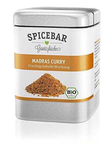 Spicebar Madras Curry-Pulver, Fruchtig Indisch, zur Herstellung einer Currysauce, Bio (1 x 70g)