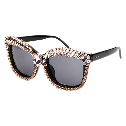WERERT Sportbrille Sonnenbrillen Cat Eye Sunglasses Women Designer Luxury Crystal Sexy Sunglasses Rhinestone Fashion Shades