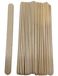 20 Spatules fine en bois pour épilation à la cire, visage et parties sensibles