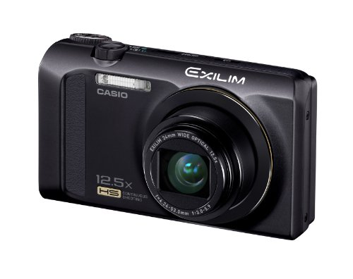 Casio Exilim EX-ZR200 Digitalkamera (16 Megapixel, 12-fach opt. Zoom, 7,6 cm (3 Zoll) Display, bildstabilisiert) schwarz -